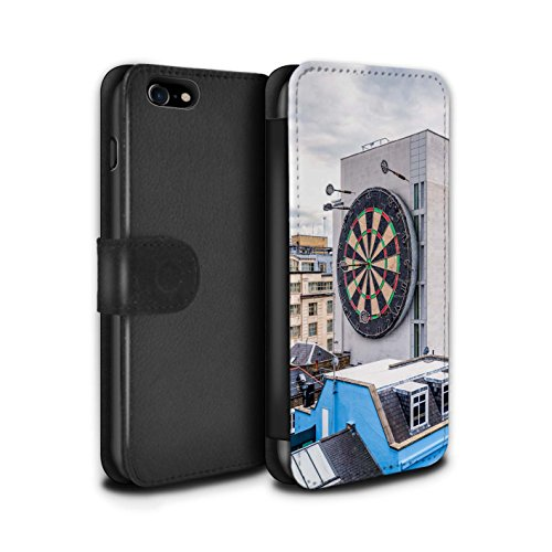 STUFF4 PU-Leder Hülle/Case/Tasche/Cover für Apple iPhone 7 / London Overground Muster / Vorstellen Kollektion Bullseye