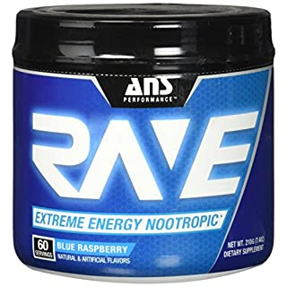 ANS Performance Rave 60 Servings Sports Supplement, 0.3 kg, Blue Raspberry