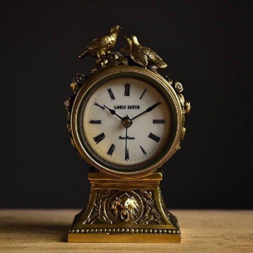 KHSKX Xix secolo di moda in Francia soggiorno e caminetto in ottone orologio watch europea e americana decorativi in ottone solido orologio da tavolo