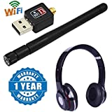 Captcha USB Wireless, Wifi Dongle, 300 Mbps 2.4G Wifi Antenna With S460 Bluetooth Wired & Wireless Headphones With TF Card/Mic/FM Support Compatible With Xiaomi, Lenovo, Apple, Samsung, Sony, Oppo, Gionee, Vivo Smartphones (One Year Warranty)