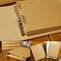 FGHHJ Scrapbooking Blank Cover Loose-Leaf Craft Paper Album Graffiti Diary Photoalbum Handmade Diy Scrapbooking Wedding Album,Kraft Insert Album