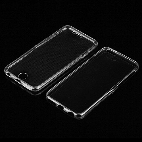 Phone case & Hülle Für iPhone 6 / 6s, 0.75mm doppelseitiger ultradünner transparenter TPU Schutzhülle ( Color : Black ) Transparent