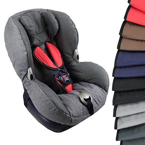 BAMBINIWELT 3tlg. SET, Gurtpolster + Schrittpolster, universal, Kindersitze 9-15 kg, GRUPPE 1 (rot)