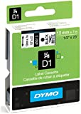 Dymo D1 Standard Self-Adhesive Labels for LabelManager Printers, 12 mm x 7 m - Black Print on White