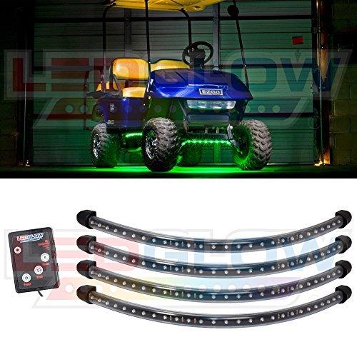 4Grün LED Golf Cart Unterboden Underglow Light Kit