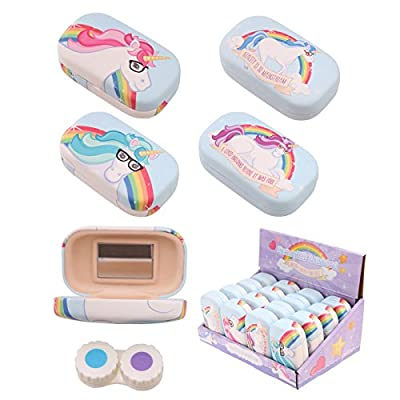 Boîte à lentilles, étui, lentilles de contact, rangement, licorne, Unicorn