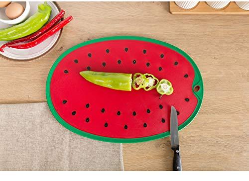 Anguria Design elegante, tagliere Anti Slip Cutting Board, tagliare e servire, 35,5 x 25 cm