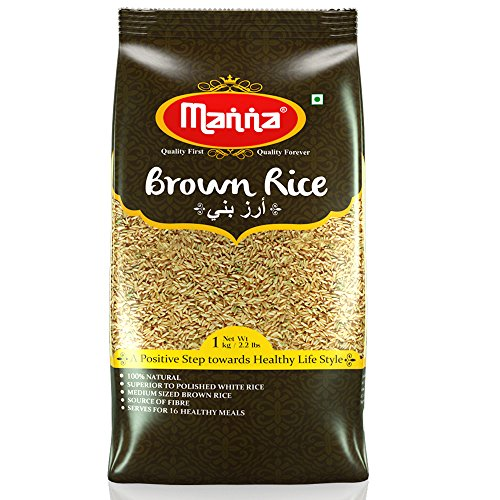 Manna Foods Unpolished Brown Rice, 1kg (2016193)