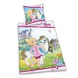 Herding 445315050412 Bettwäsche Prinzessin Emmy, Kopfkissenbezug 80 x 80 cm und Bettbezug 135 x 200 cm, 100 % Baumwolle
