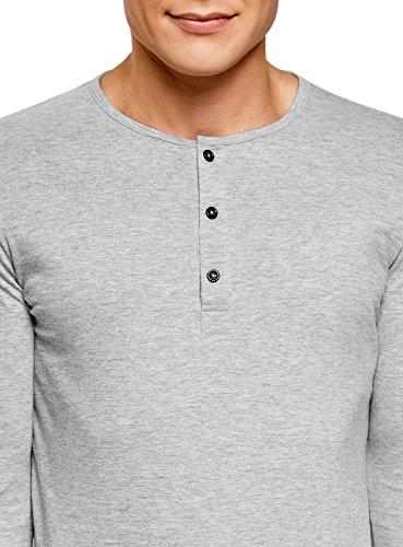 4c980ffa77 oodji Ultra Hombre Camiseta Henley de Manga Larga