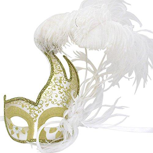 Weiß und Gold Swan Cigno gefiederten venezianischen Masquerade ()