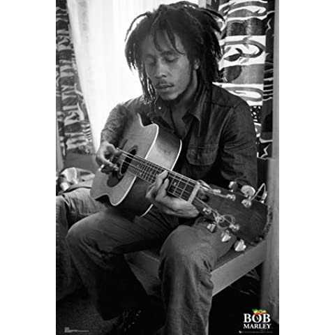 GB eye, Bob Marley, Guitar, Maxi Poster, 61x91.5cm