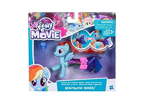 My Little Pony: Der Film – Land- & Seepony Modespass – Prinzessin Twilight Sparkle – Spielfigur mit Verwandlungsoutfit