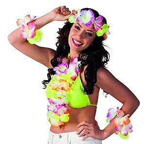 Boland-Set Hawaii 1guirnalda, 1collar, 2pulseras, multicolor Rayo de sol (multicolor) Unica multicolor
