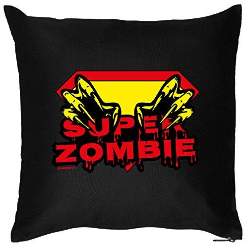 Kissen mit Halloween Motiv: Super Zombie - Halloween Deko für das Wohnzimmer - Couch - Sofa - - Ideen Halloween Zombie-kleidung