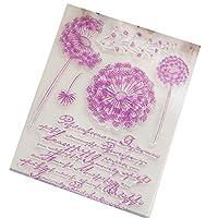 WEISHAZI Dandelion Transparent Clear Silicone Stamp DIY Scrapbooking Photo Album Decor