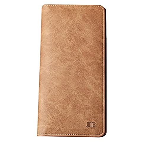 Zhuhaitf Portefeuille Mens Teenagers Father's Soft Long Smooth Money Organizer
