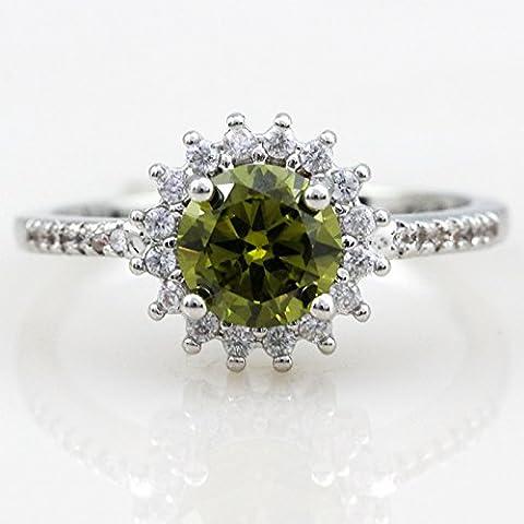 Wynce (TM) Big luoghi di vendita alla moda con argento anello verde smeraldo Ulove Y3522 dei monili pietre naturali CZ diamante De Donne Mulher