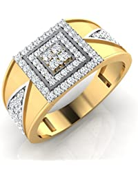 IskiUski The Yorke Gold Ring 18Kt Swarovski Crystal Yellow Gold Ring Yellow Gold Plated For Women