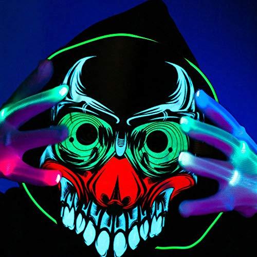 QHJ Halloween Kostüm Party Maske Halloween Scary Cosplay Masken Phantasie Cosplay Kostüm Führte Masken Helloween Kostüm Party - Pferd Kostüm Zeigen