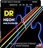 DR Neon Multi Color Bass Saiten Strings 4-Saiter, 045 - 105