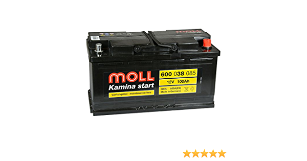 600 38 einbaufertig Moll Kamina start 100Ah 12V Autobatterie