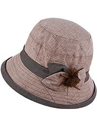 ITODA Cappello da Sole da Donna Bowknot Sunbonnet con Visiera da Viaggio  Packable da Viaggio Cappello 688478bb4aac