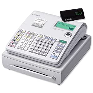 Casio Cash Register 7 segment 2x 10 Digit Customer 8 Digit 14 Lines/sec W400xD450xH237mm Ref SES-300MD