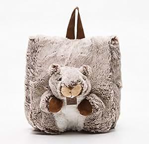 """Histoire d'ours - Sac à dos enfant """" Mon petit sac d'aventurier """" - Modèle : doudou Marmotte - Collection : Studio - Taille : 30 x 25 cm"""