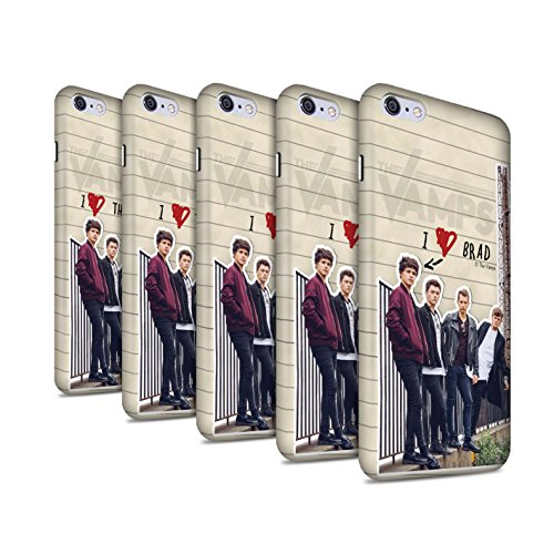 Offiziell The Vamps Hülle / Matte Snap-On Case für Apple iPhone 6S+/Plus / Pack 5pcs Muster / The Vamps Geheimes Tagebuch Kollektion Pack 5pcs