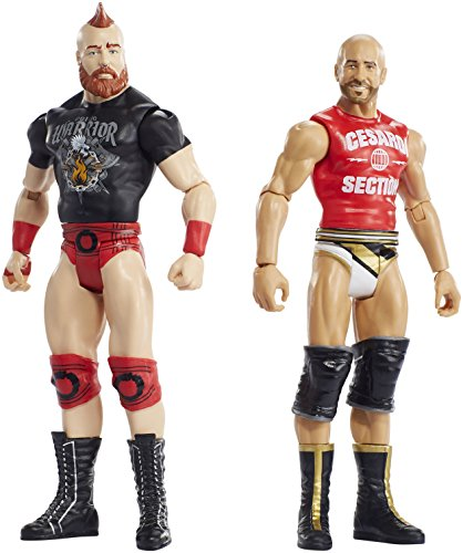 Mattel FMF69 WWE Basis Figuren Cesaro und Sheamus boys, 2er Pack, 15 cm