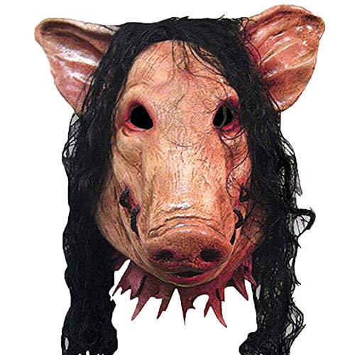 Vidillo Gesichtsmaske für Halloween, Horrigble Halloween, Sägenmaske, Gruselmaske, Tiermaske, Schweinekostüm, lustige Maske für Party Halloween (Für Led-halloween-kostüm Kleinkind)