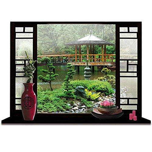 adesivo a motivo giardino zen giapponese