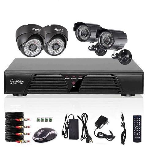 liview ® 4 Kanal CCTV H.264 DVR 4 HD 600TVL Wasserdicht IR Nachtsicht Sicherheit kamera Video Überwachungssystem
