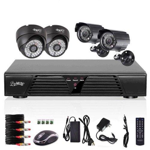 Preisvergleich Produktbild liview ® 4 Kanal CCTV H.264 DVR 4 HD 600TVL Wasserdicht IR Nachtsicht Sicherheit kamera Video Überwachungssystem Set