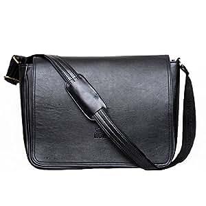 KGNExportsHouse , 15 Pollice Shoulder Messenger Bag Notebook Viaggio Lavoro PC Portatile Messaggero Borse Cartella Spalla Borsa Tracolla Pelle Uomo Donna - Laptop