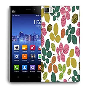 Snoogg Seamless Pattern With Leaf Designer Protective Back Case Cover For Xiaomi Mi 3