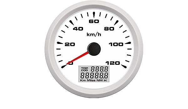 Eling 3 3 20 3 Cm Truck Car Gps Tacho Kilometerzähler Velometer 0 120km H Mit Trip Fahrleistung 9 32v Auto