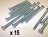 Innensechskantschraube, 15x 25mm, Nickel, Silber-Finish, M3.5 Steckdose