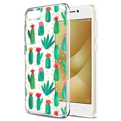 Asus ZenFone 4 Max ZC520KL Hülle, Eouine Ultra Slim Soft TPU Muster Schutzhülle Silikon Stoßfest Bumper Case Cover für Asus ZenFone 4 Max ZC520KL (5,2 Zoll) Smartphone (Kaktus)