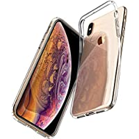 Spigen Coque iPhone XS/Coque iPhone X, [Liquid Crystal] Ultra Fine TPU Silicone [Crystal Clear] Transparent/Adhérence Parfaite/Anti-Trace Souple Coque pour Apple iPhone XS et iPhone X