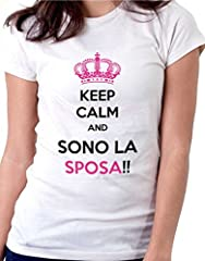 Idea Regalo - t-shirt humor Addio al nubilato - Keep calm and… , sposa - by tshirteria