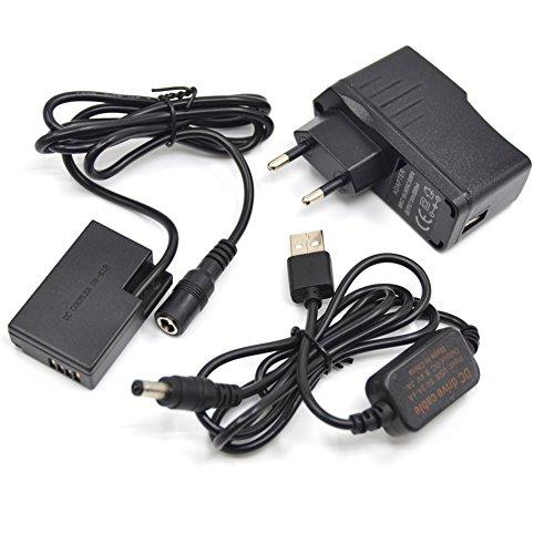 Cavo del driver USB da 5V-8.4V ACK-E18 + 5 V3 A cavo di carica + DR-E18 BG-E18 LP-E17 Batteria Fittizia DC Grip per Canon EOS 760d 750d T6i T6S 8000d etc