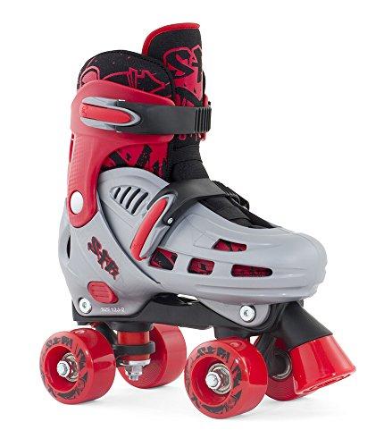 sfr-hurricane-childs-quad-skate-grey-red-uk-8j-11j