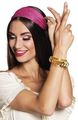 shoperama Armreif Gold-Münzen Göttin Haremsdame Wahrsagerin Zigeunerin Römerin Orient 1001 Nacht Belly Dance Bauchtanz Bollywood