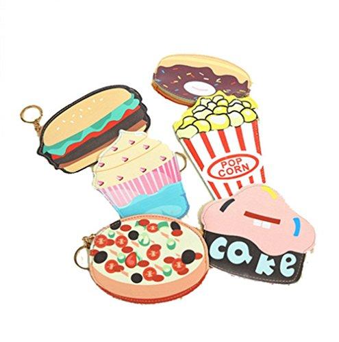 Milopon 3D Kleingeld Tasche Kreative Persönlichkeit Wallet Nette Mini Wallet Clutch Bag Geldbörsen Abendtasche Hamburger (Wallet Bag Clutch)