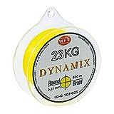 WFT Round Dynamix 600m geflochtene Angelschnur, Durchmesser:0.25mm;Farbe:Gelb
