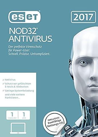 ESET NOD32 Antivirus 2017 Edition 1 User (FFP)