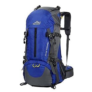 Sac à dos randonnée 45L + 5L 50L 65L+5L Housse Imperméable pour Sport Sacs de trekking Camping Backpack Alpinisme Escalade (45L+5L 05 Bleu, 45L + 5L)