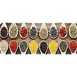 ID Mat 50120Epices - Alfombra de cocina, fibra poliamida/policloruro de vinilo, 120x 50x 0,4cm, multicolor